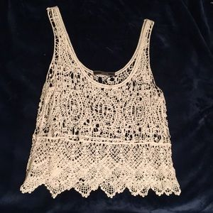 Tank top- knit, see through, lace style